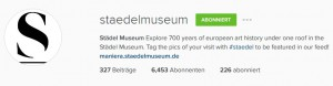 Beispielprofil des Städelmuseums. Quelle: Instagram.