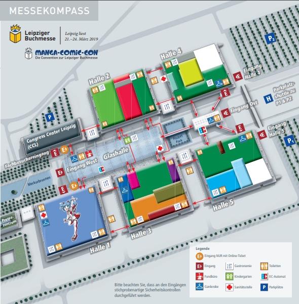 Messeplan, Leipziger Buchmesse 2019