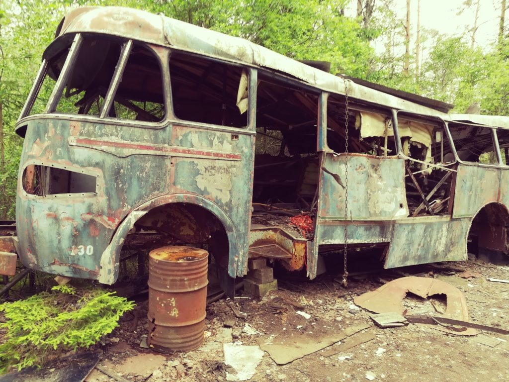 Tourbus, ABBA , Autofriedhof, Ryd, Schweden, Baltic Sea Circle 2019