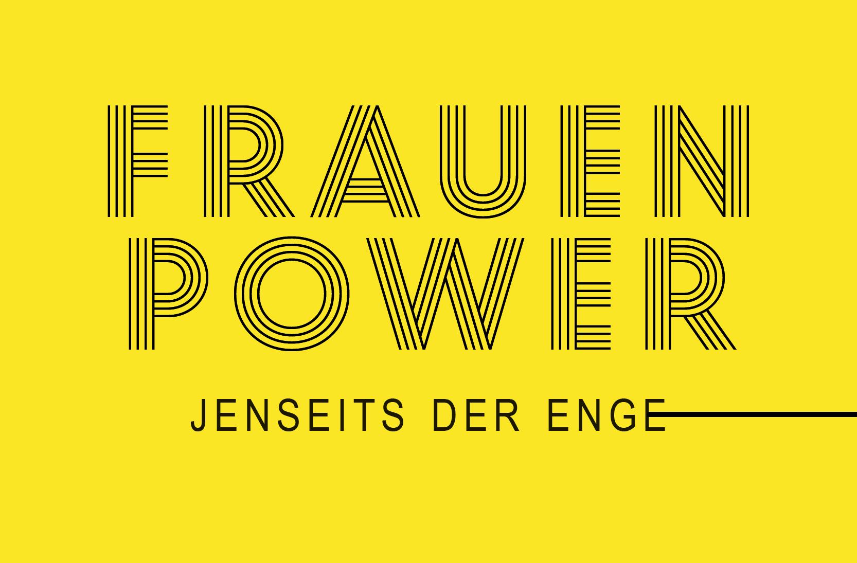 Titel Ausstellung FrauenPower